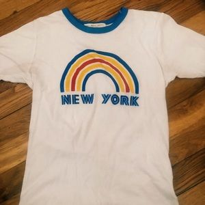 Truly Madly Deeply/ UO New York Ringer Tee